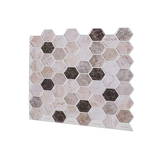 Vinilo decorativo para azulejos grueso y resistente al desgaste,Azulejos de pared autoadhesivos Impermeable disponible Pelar y pegar Etiqueta de efecto 3D -10 hojas-515_1