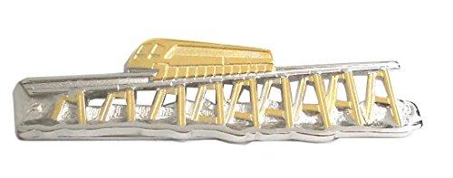 Unbekannt Krawattenklammer Transrapid Magnet Schwebebahn Bicolor - teilvergoldet glänzend Plus dunklerGeschenkbox