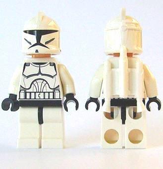 LEGO Star Wars Minifigur - Clone Jet Trooper mit Raketen auf dem Rücken und Spezialgewehr