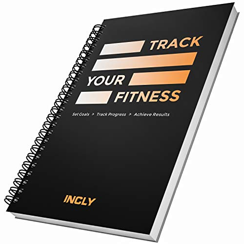 INCLY Fitness Journal Workout Planner Log Book, Gym Notbook Exercise Track for Women & Men - 5.5 x 8.5 Inch, Sturdy Binding, Thick Pages, Hardcover