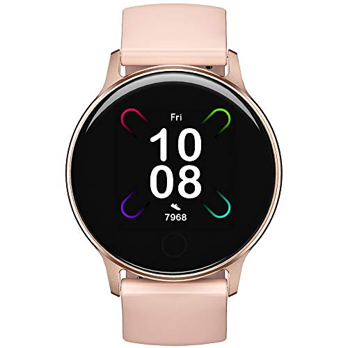 UMIDIGI Smart Watch Uwatch 3S Fitness Tracker with Blood Oxygen Monitor and Heart Rate Monitor for Women Men. 5ATM Waterproof Activity Tracker with Compass for iPhone and Android Phone.