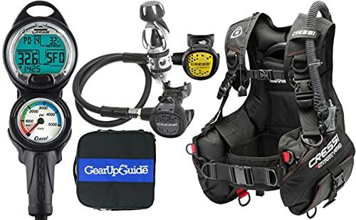 Cressi Start Pro 2.0 Scuba Diving Gear Package Assembled GUpG Reg Bag, Leonardo C2, Medium