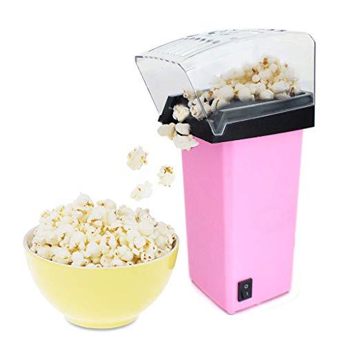 Elektrische Popcornmaschine, Mini Macht heißes, gesundes, fettfreies Popcorn im Theaterstil zu jeder Zeit Attraktives Design Eingebauter Wirbel 1200W,Rosa
