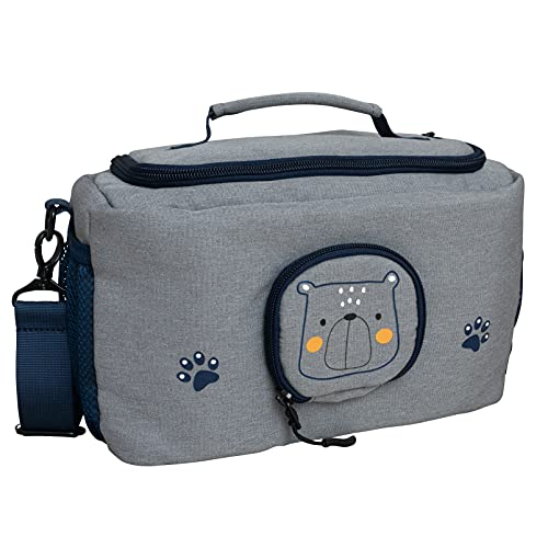 JP Journey Tasche für Toniebox - BoxBag für Figuren, Box und Zubehör auf Reisen und im Auto - Bär, Blau
