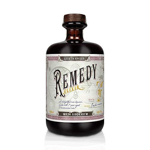 Remedy Rum Elixir bis zu 7 Jahren in Eichenfässern gereift mit natürlichen Zutaten Geruch von Kakao, Orange & verschiedenen Gewürzen Geschmack von Walsnuss & Kokos leichte & angenehme Schärfe