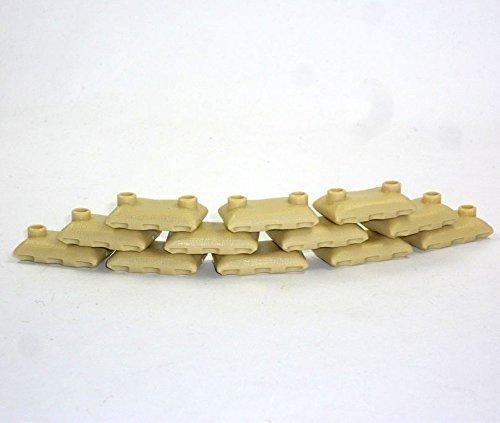 Custom 12 Sandsäcke tan beige 12 Stück WW2 Bundeswehr für Lego Figuren