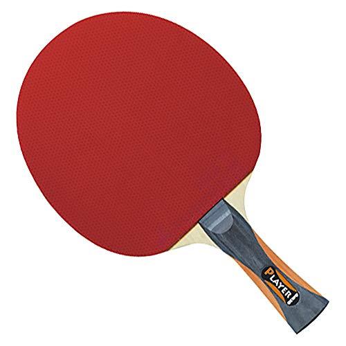 GEWO Unisex– Erwachsene Thunderball 2 hohe Kontrolle und MAXIMALER Spin Tischtennisschläger, Schwarz/Orange, One Size