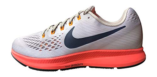 Nike Men's Air Zoom Pegasus 34 Running Shoe, 12, Moon Particle/Blackened Blue