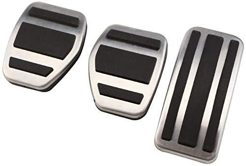 Auto Pedale Abdeckung Aluminiumlegierung Gummi Pedal, FüR Citroen C4L C4 C3-XR,Brems Pedalkappen FußPedal...