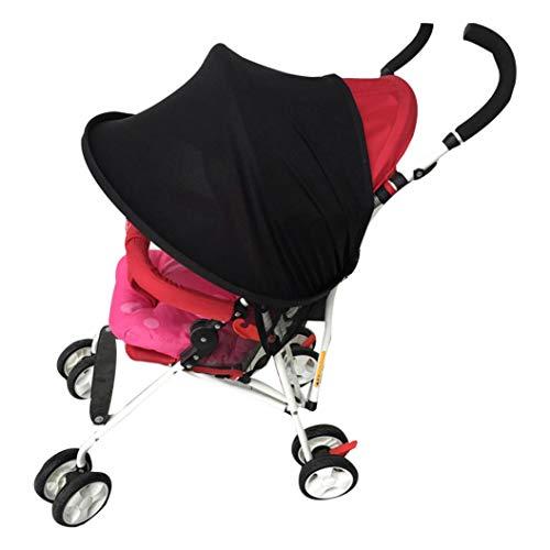 Rameng Canopy bébé Parasol Couverture Pour Poussette Canne Compacte Pare-soleil Poussette Universel (Noir)