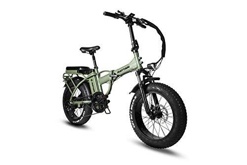 Rattan Folding Electric Bike 750W 48V 13AH LCD Display 4.0 Fat Tire Ebike for Adults All Terrain Foldaway 7 Speed Sport Commuter Snow Bicycle Off Road Dirt Bike Couple Models