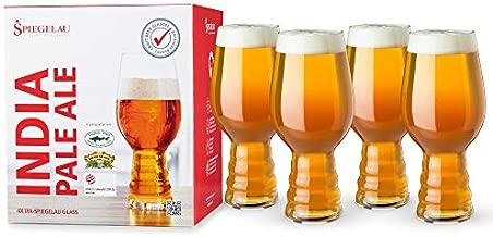 Spiegelau Craft IPA, Set of 4 European-Made Lead-Free Crystal, Modern, Dishwasher Safe, Professional Quality Beer Pint Glass Gift Set, 19.1 oz