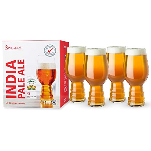 Spiegelau & Nachtmann, 4-teiliges Kraftbier-Glas-Set, India Pale Ale, Kristallglas, 4991382, Craft Beer Glasses