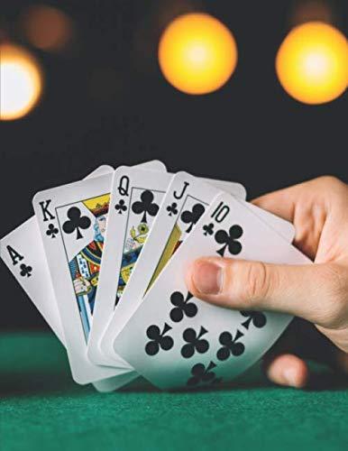 Notizbuch: zum Pokern ♦ über 100 Seiten Dot Grid Punkteraster für Strategien, Planer oder Notizen für alle Pokerspieler ♦ Jounal A4+ Format ♦ Motiv: Pokertisch 9