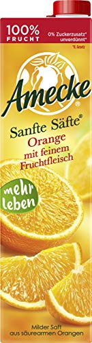 Amecke Sanfte Säfte Orange mit Fruchtfl 100 Prozent Saft, 6er Pack (6 x 1 l)