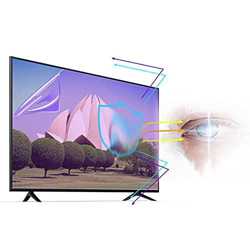 ALGWXQ Tv Screen Protector Anti Radiation Anti-scratch, Blue Light Suppression Rate Reaches 30.1% for All Brand TV Size (Color : Matte version, Size : 39 inch 856 * 478mm)
