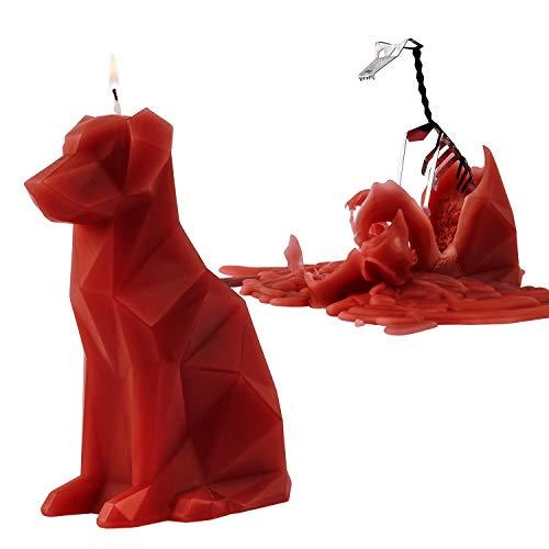 PyroPet Kerze - überraschende Tierkerze mit Skelett, Hund »Voffi« Terracotta/Rot