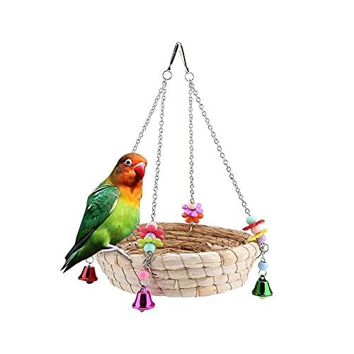 BONEDAY Papageienschaukel,Vogelkäfig Spielzeug,Die Vogelschaukel ist der Gute Ort,An dem Sich Ihr Haustier Ausruhen oder Trainieren Kann,Heimvögel Lieben es zu Picken und zu Kauen