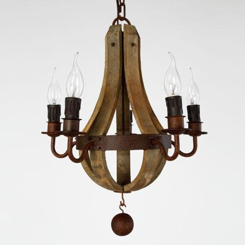 LightInTheBox Vintage Amercian Rustic Wooden Pendant Wine Barrel Chandelier Lamp Liviing and Bedroom Lamp Ceiling Lights