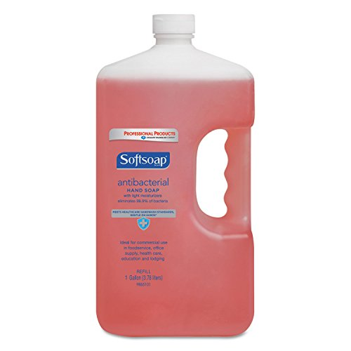 Antibacterial+Liquid+Hand+Soap+Refill%2c+Crisp+Clean%2c+Pink%2c+1gal+Bottle%2c+4%2fCarton