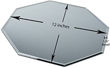 Eastland 12 Octagon Beveled Centerpiece Table Mirror Set of 10
