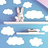 Create-A-Mural Fluffy Cloud Wall Decals -Baby Nursery Room Wall Decor, Removable Peel and Stick