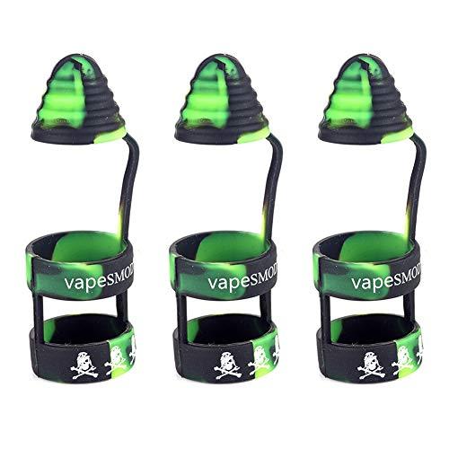 Yeleo Trosetry 3 Stück Vape Band mit Kappe als Abdeckung für E-Zigarette und Verdampfer aus Silikon Anti Slip Mundstück für 510 810 RTA RDA Tank Vape Drip Tip(H08)