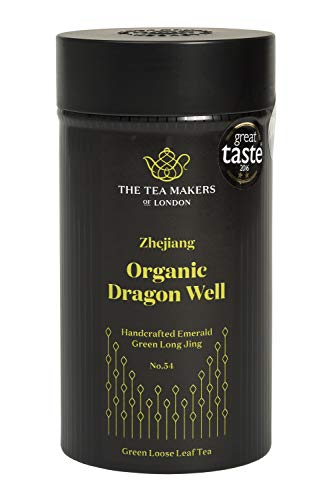 The Tea Makers of London Bio-Drachenbrunnentee, Long Jing (Lung Ching), gepresster Grüntee