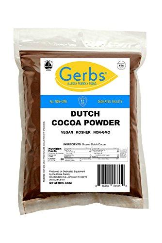 GERBS Dutch Cocoa Powder, 32 ounce Bag, Top 14 Food Allergen Free, Non GMO, Vegan