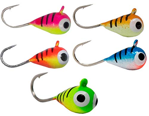3mm Tungsten Ice Fishing and Fly Jig 12pk #16 hook Crappie walleye bluegill pike