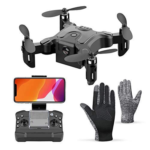 QIXIAOCYB Quadcopter Pieghevole RC. Drone con Auto Hovering Mobile WiFi Funzionamento a 360 ° Flips Flips 3 Regolazione della velocità e 5 batterie Extra Giocattoli for Le Persone di età Superiore ai