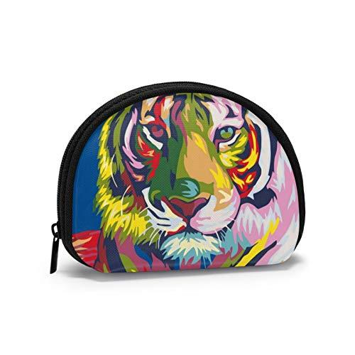 Monederos Tie Dyes Tiger Bolsas para Monedero Niños Bolsa Pequeña Auricular Portátil Mini Cambio Carteras para Mujeres Niñas 4.7 X 3.5 pulgadas