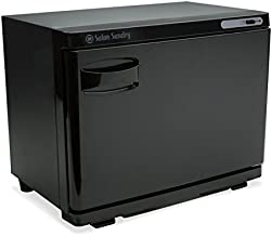 Salon Sundry Professional High Capacity Hot Towel Warmer Cabinet - Facial Spa and Salon Equipment - Black