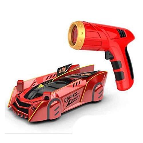 JWGD Kinder RC Auto Spielzeug Air Zero Gravity Racer Wand Klettern Auto, Fernbedienung Zubehör Wandklettern Rennwagen (Farbe : Rot)