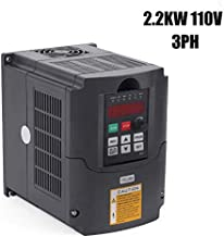 VFD 110V 2.2KW 3 Phase Variable Frequency CNC Motor Drive Inverter Converter for Spindle Speed Control/Motor(2.2KW, 110V)