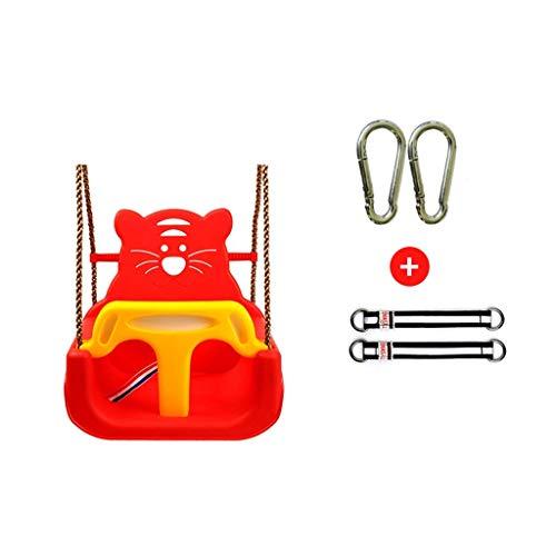 QULONG Columpio Asiento para Columpio para bebés Bipartito, Columpio para niños con función de Seguridad, Cinturón de Seguridad, Cuerda Ajustable para niños Asiento para Columpio para jardín al Air