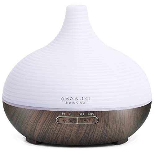 ASAKUKI 300ml Premium, Essential Oil Diffuser, 5 in 1 Ultrasonic Aromatherapy Fragrant Oil Humidifier Vaporizer, Timer and Auto-Off Safety Switch