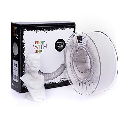 Print with Smile 3D Drucker ABS Filament | 1,75 mm für 3D Printer und 3D Stift | hochwertig Filament für 3D-Drucker und 3D-Pen 1000 g (Natural Ivory)
