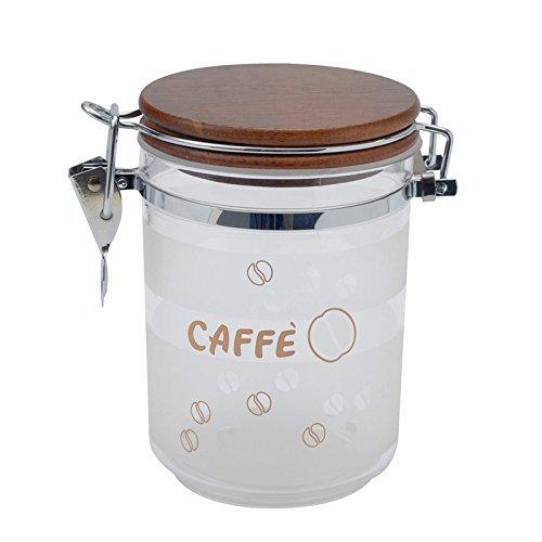 Excèlsa Kaffee Vorratsdose, Satiniert, HolzDeckel, 0,72 lt.