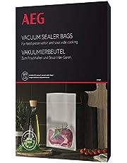 AEG AVSB1 Vacuümzakken (geschikt voor koel- en vriezer, vershouden, conserveren, koken, sous-vide-garen, voorgesneden, 7-laags, scheurvast, 500 ml, -30 °C tot 110 °C, transparant)