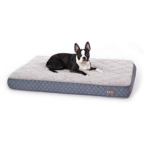 K&H Pet Products Quilt-Top Superior Orthopedic Bed Gray/Geo Flower Medium 30 X 40 Inches