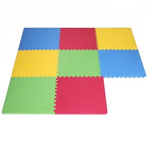Tappeto Puzzle Eva colori assortiti tappetino gioco palestra casa set 60x60 8pcs TOP 2.88 mq sp.1cm STI