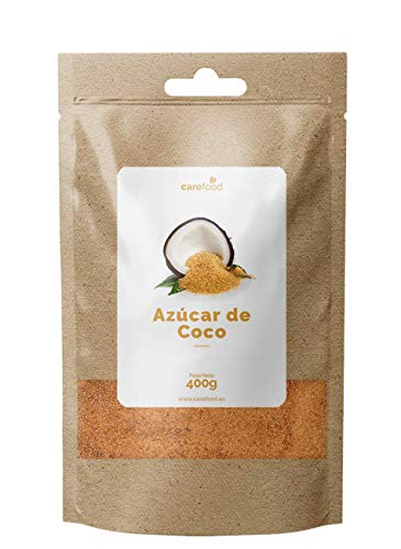 Azúcar de Coco ecológico 400gr Carefood | 100% Bio Puro | Edulcorante natural y Apto para diabéticos | Superalimentos Carefood