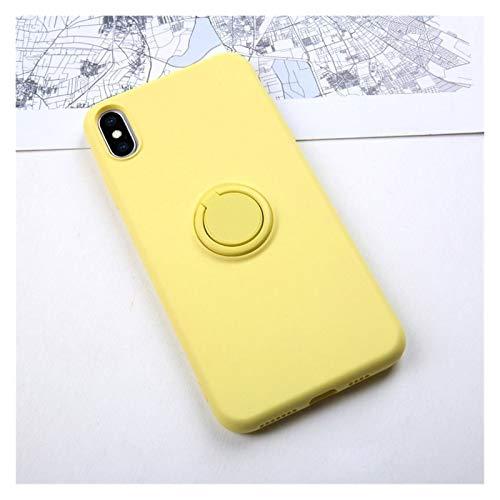 DAKJFFF De Silicona Suave, Cubierta, Caso del for iPhone 6S 6 7 8 Plus X XS S 11 Pro MAX XR teléfono sostenedor del Soporte del Anillo a Prueba de Golpes Armadura Cubierta iPhone7 En
