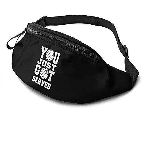 NA Vous Venez De Recevoir Logo Runner's Fanny Bag Waist Pack Sangles Réglables Poche avec Prise Casque pour Unisexe