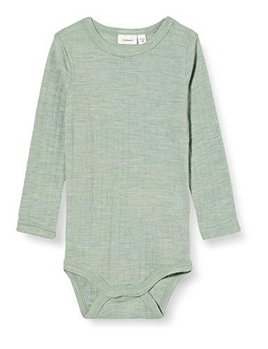 NAME IT NBMWANG Wool Needle LS Body Box Noos XX, Green Bay, 80 cm para Bebés