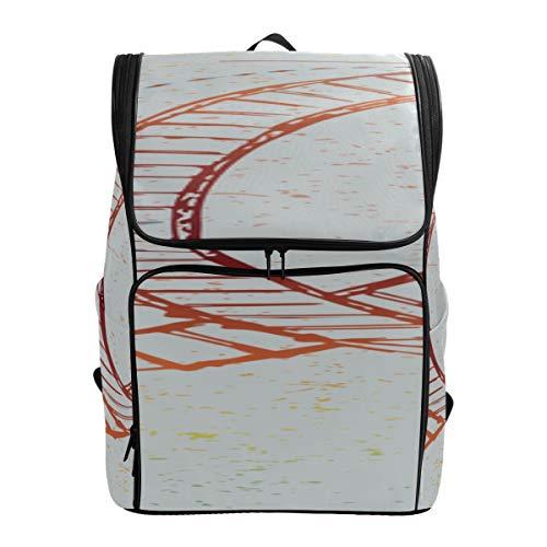 A Thrilling Game Roller Coaster Backpack Bookbag School Bags Carryon Travel Bag Sport Men Bagfits 15.6 Inch Laptop And Notebook Best Backpack