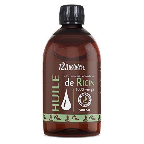 123 Gélules Nature & Plantes - Huiles De Ricin - 100% Vierge - 500ml