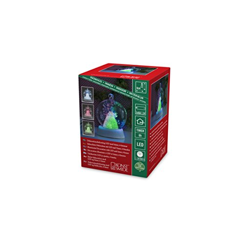 Konstsmide 3409-000 Boule de Verre à LED, Plastique/,, 0.12 W, Multicolore