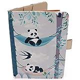 Porta Libretto Sanitario Neonato - Motivo Panda - Formato A5 15x20 cm - Alette Per Riporre Prescrizioni